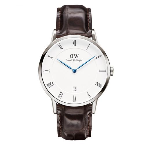 DW Daniel Wellington Dapper 皮革腕錶~銀框38mm^(1122