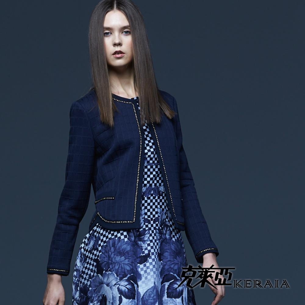 【克萊亞KERAIA】高貴優雅燙金短版外套