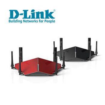D-Link 友訊 DIR-890L / DIR-890LR  AC3200 雙核三頻Gigabit 無線路由器 黑色 / 紅色