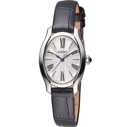 精工錶 SEIKO 小資完美鵝蛋型時尚腕錶 1N01-0SE0L 皮 SXGP61P1
