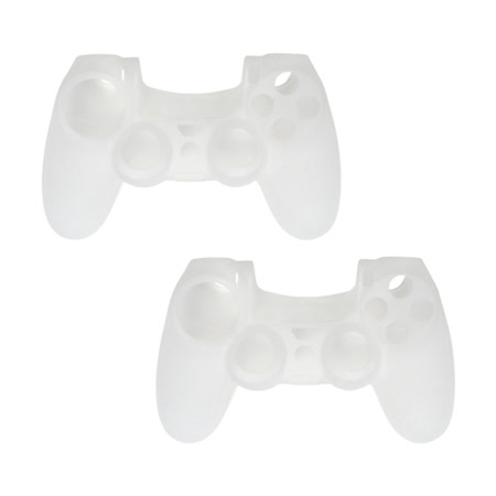 PS4 DUALSHOCK 4 無線控制器專屬果凍套 (透白-二入組)