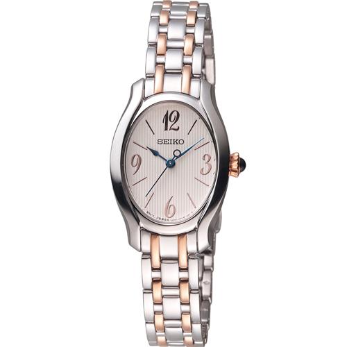 精工錶 SEIKO 小資完美鵝蛋型時尚腕錶 1N01-0SE0P 雙色 SXGP57P1