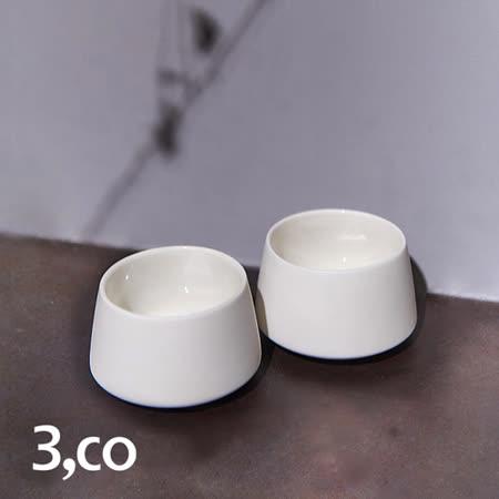 【3,co】水波提樑小杯(2件組) - 白