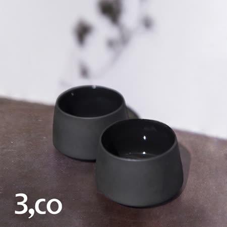 【3,co】水波提樑小杯(2件組) - 黑
