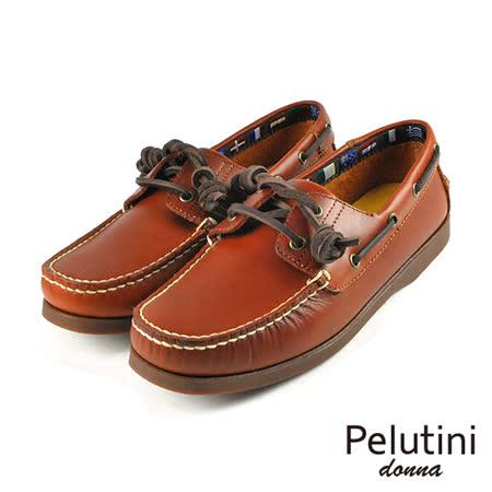 【Pelutini】donna女款休閒雷根鞋 褐色(6733W-TAN)