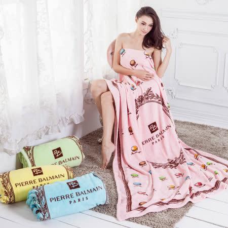 【FOCA】皮爾帕門-極細緻法萊絨保暖舒眠毛毯(馬卡龍-粉)
