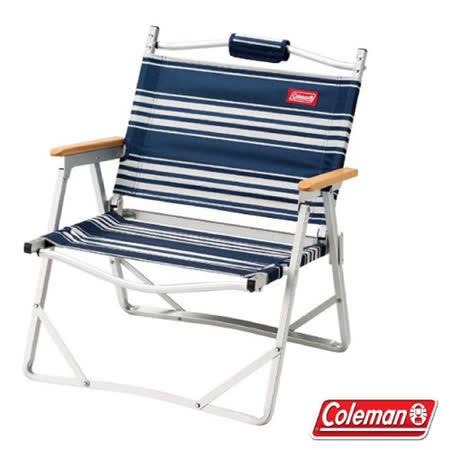 【美國Coleman】輕薄摺疊椅.鋁合金休閒椅.折疊椅_CM-31288 藍條紋