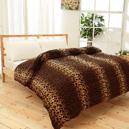 【FOCA】蜜雪絨保暖多用途雙人被套毯/披毯/蓋毯(狂野之夜)