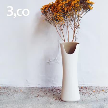【3,co】管狀花器 E - 白(原色內層)