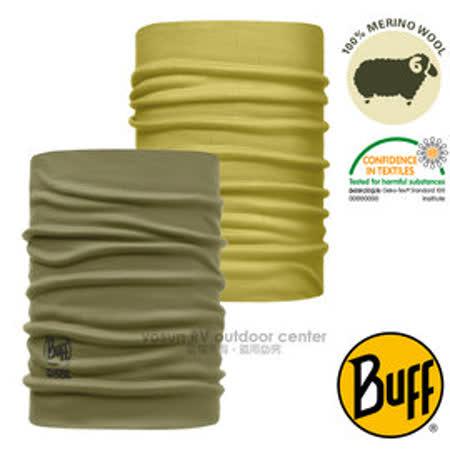 【西班牙 BUFF】頂級 Merino 超輕量超彈性恆溫雙面保暖領巾/可當圍巾_圍脖帽子_113580 芥末黃綠