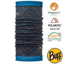 【西班牙 BUFF】POLARTEC 雙面用超彈性保暖魔術頭巾/可當圍巾_圍脖帽子_113140 霓虹夜光