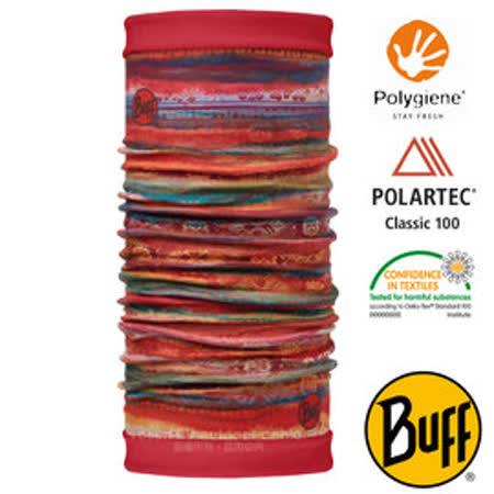 【西班牙 BUFF】POLARTEC 雙面用超彈性保暖魔術頭巾/可當圍巾_圍脖帽子_113136 綺麗水彩