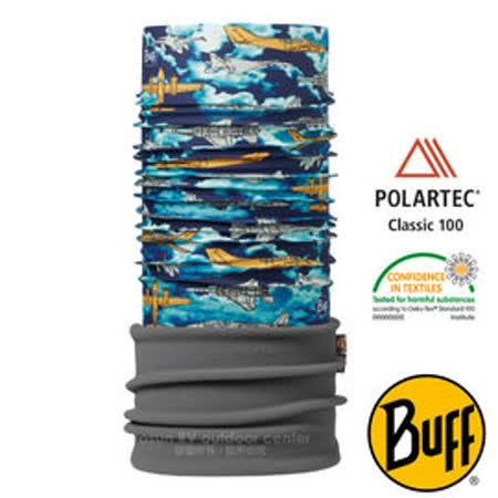 【西班牙 BUFF】兒童款 POLARTEC 加長型超彈性保暖魔術頭巾/可當圍巾_圍脖帽子_113425 飛機戰隊