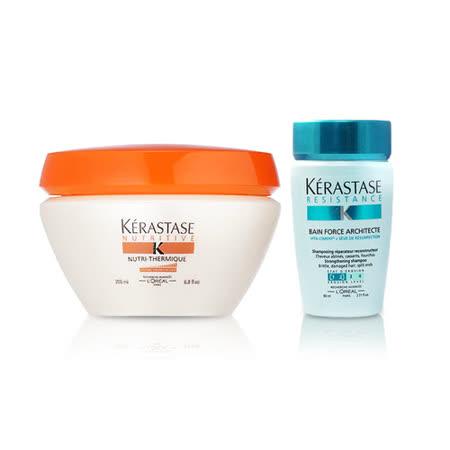 Kerastase卡詩 滋養熱活髮膜200ml+煥髮重建髮浴80ml