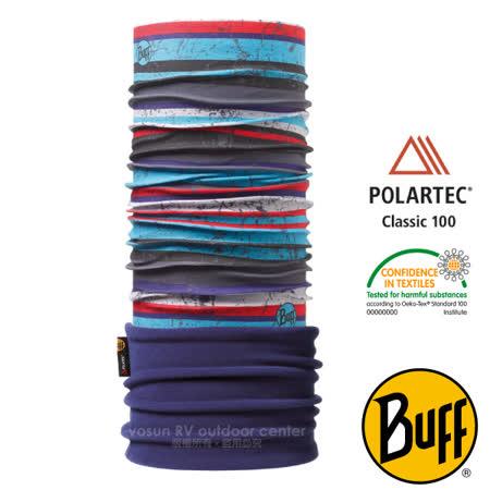 【西班牙 BUFF】兒童款 POLARTEC 加長型超彈性保暖魔術頭巾/可當圍巾_圍脖帽子_111291 酷色條紋