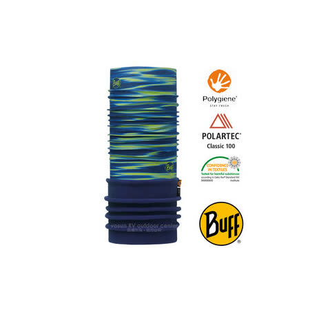 【西班牙 BUFF】POLARTEC 加長型超彈性保暖魔術頭巾/可當圍巾_圍脖帽子_113109 螢綠海洋