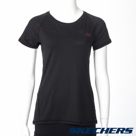 SKECHERS 女短袖衣 - GWPTT173BLK