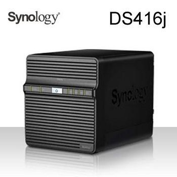 Synology 群暉科技 DS416j 4Bay 網路儲存伺服器