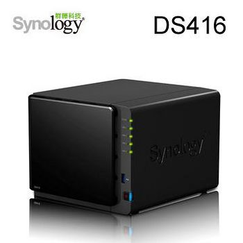 Synology 群暉科技 DS416 4Bay 網路儲存伺服器