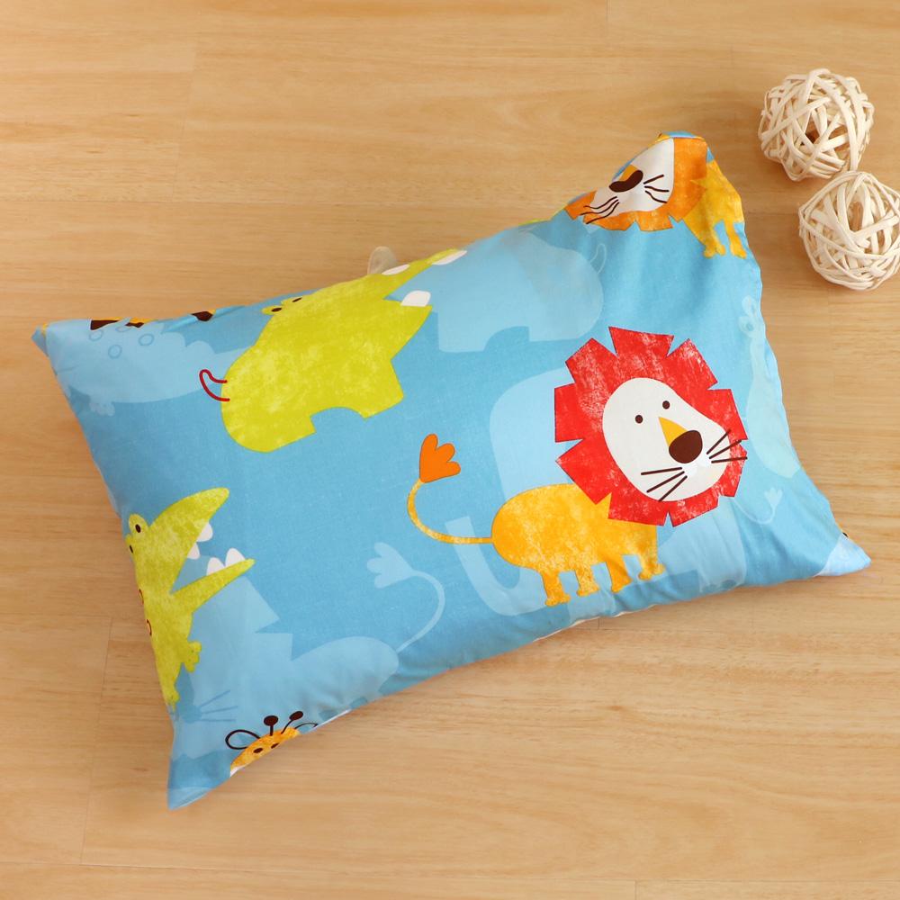 鴻宇HongYew~快樂獅子~ 製 美國棉 防蹣抗菌兒童纖維枕
