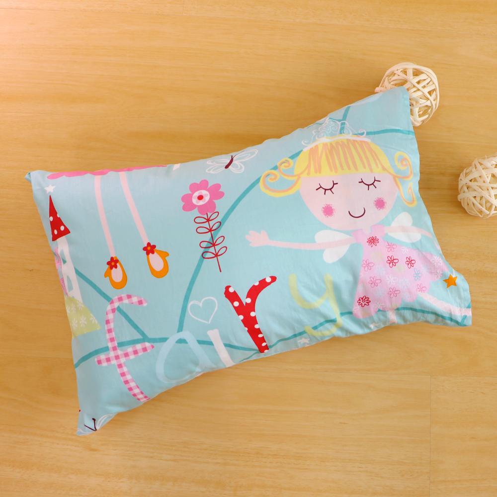 鴻宇HongYew~公主城堡~綠~ 製 美國棉 防蹣抗菌兒童纖維枕