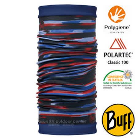 西班牙 BUFF】POLARTEC 雙面用超彈性保暖魔術頭巾/可當圍巾_圍脖帽子_113137 油彩印象