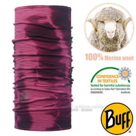 【西班牙 BUFF】頂級 Merino 超輕量超彈性恆溫保暖魔術頭巾/可當圍巾_圍脖帽子/113012 幽幽莓紫