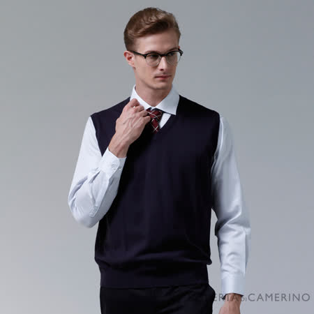 ROBERTA諾貝達 進口素材 台灣製 V領質感輕柔 純羊毛背心 深紫