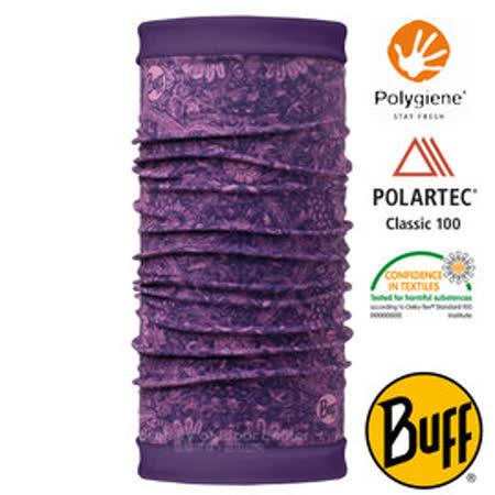 【西班牙 BUFF】POLARTEC 雙面用超彈性保暖魔術頭巾/可當圍巾_圍脖帽子_113138 空靈紫鳶