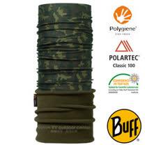 【西班牙 BUFF】POLARTEC 加長型超彈性保暖魔術頭巾/可當圍巾_圍脖帽子_105546 經典迷彩