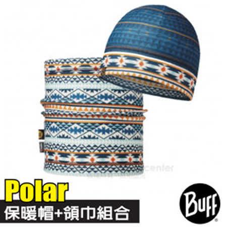 【西班牙 BUFF】Polar雙層保暖帽+雙面載彈性魔術頭巾超值組合/可當圍巾.口罩圍脖_綠林派對 113461