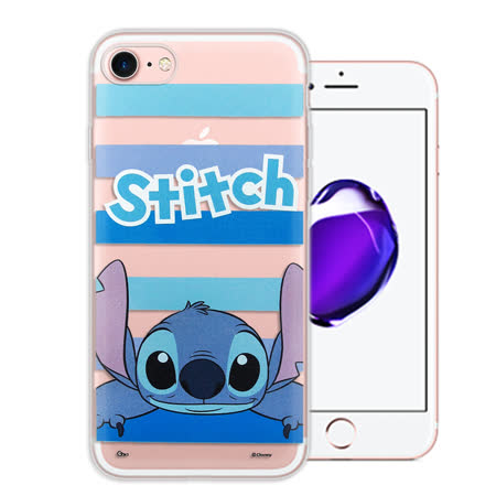 迪士尼Disney正版授權 iPhone 7 4.7吋  大頭招呼系列軟式手機殼(史迪奇)