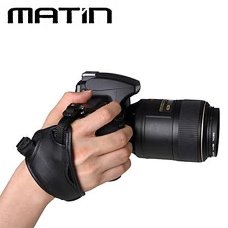 MATIN馬田真皮手腕帶M-7370(黑色)大面積附站加支架馬田手腕帶