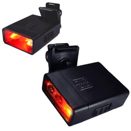 WalkBox迷你夾式3LED高亮度閃爍紅光警示燈/小夾燈/書燈/皮帶燈/自行車燈/工地燈/眼鏡燈/帽子燈