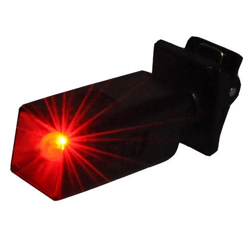 WalkBox自行車迷你LED夾式閃爍紅光警示燈小夾燈書燈皮帶燈自行車燈工地燈眼鏡燈帽子燈
