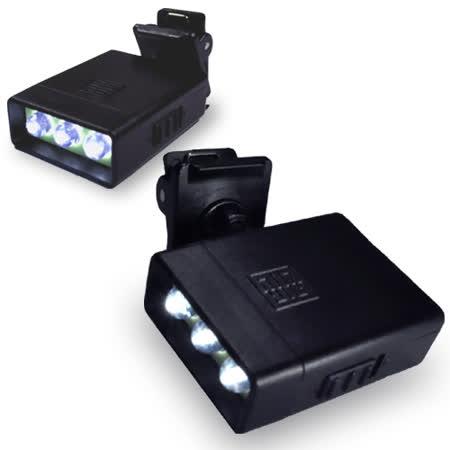 WalkBox夾式迷你高亮度3LED燈手電筒/小夾燈/書燈/皮帶燈/自行車燈/工地燈/眼鏡燈/帽子燈