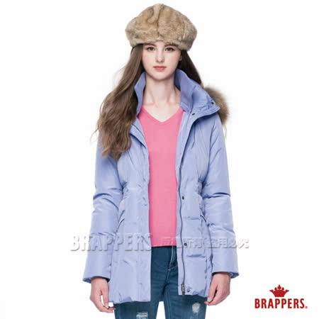 BRAPPERS 女款 女用長版羽絨外套-淺紫