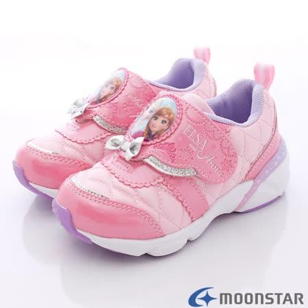 日本Carrot機能童鞋-冰雪奇緣機能運動款DNC11804粉-(15cm-19cm)