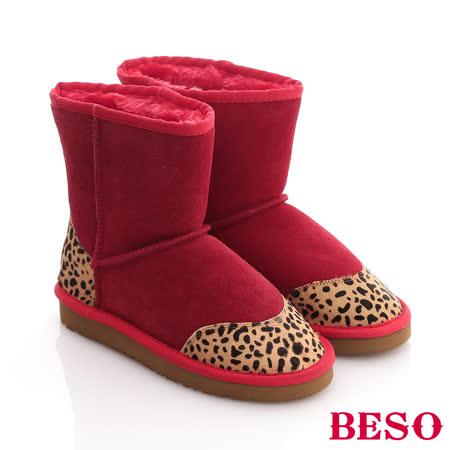 【開箱心得分享】gohappy 線上快樂購【BESO 】動物遊記 多彩拼接小豹紋圓點雪靴(紅)價格遠 百 威 秀 高雄