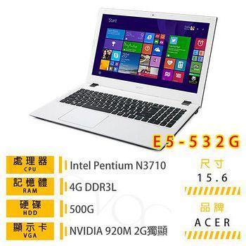 ACER E5-532G-P4EJ  (N3710/4G/500GB/NV 920 2G/DVD/15.6 Win10) 質感文書筆電