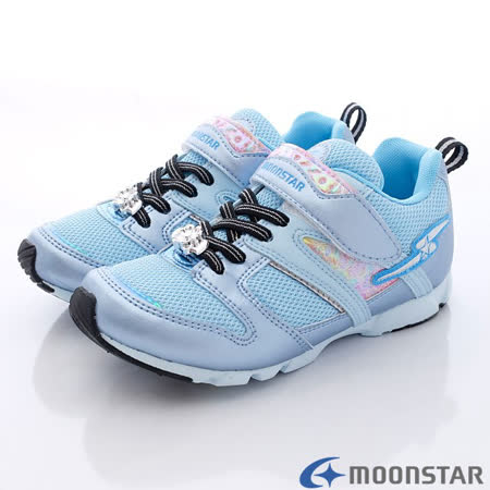 日本Carrot機能童鞋-競速甜心運動款-SSJ6879藍-(18cm-25cm)