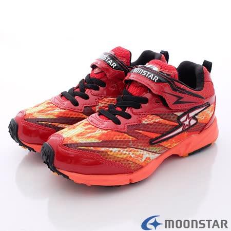 日本Carrot機能童鞋-火焰競速運動款-SSJ7112紅-(19cm-25cm)