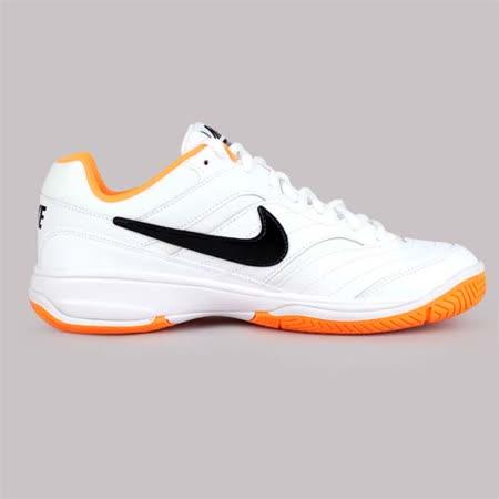 (男) NIKE COURT LITE 網球鞋 白橘