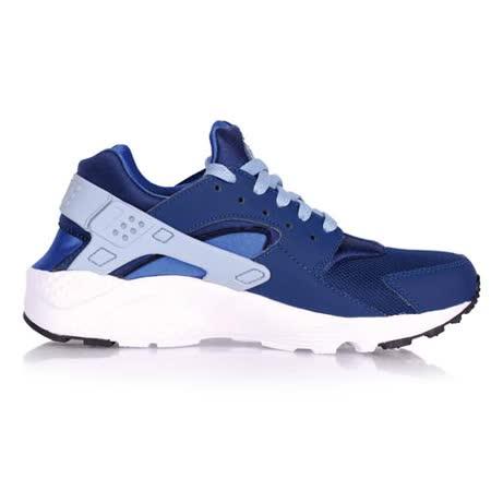 (女) NIKE HUARACHE RUN -GS 運動休閒鞋- 慢跑 路跑 寶藍白