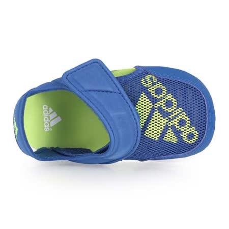 (童) ADIDAS FLEXZEE I 男女兒護指涼拖鞋-休閒涼鞋 鞋 藍芥末綠