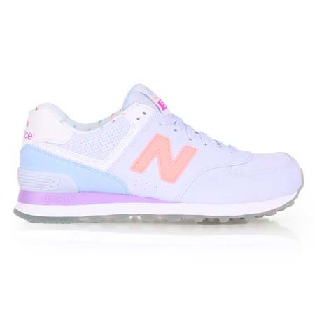 (女) NEWBALANCE 574系列 復古休閒鞋-B- NB N字鞋 粉紫橘