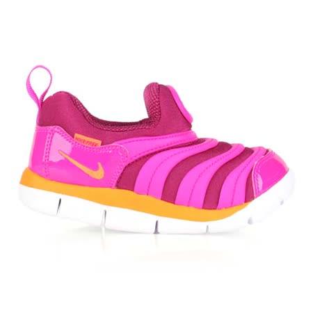 (童) NIKE DYNAMO FREE-TD男女兒毛毛蟲鞋-小 鞋 紫橘
