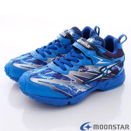 日本Carrot機能童鞋-火焰競速運動款-SSJ7115藍-(19cm-25cm)