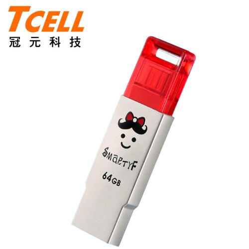 ~TCELL 冠元~OTG SmartF 64GB 雙介面隨身碟~紅 ^(小蝴蝶^)
