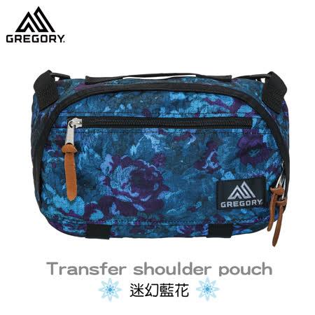 【美國Gregory】Transfer Shoulder日系休閒側背包-迷幻藍花-M